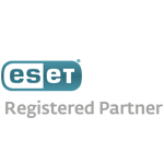 eset ENJOY SAFER TECHNOLOGY Silber Partner Logo